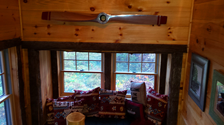 vacation rental window seat- saranac lake, ny