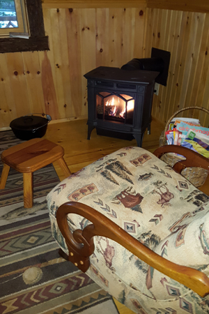 vacation rental woodstove, saranac  lake, ny