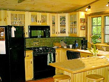 gormet kitchen little nell cabin on moody pond saranac lake, ny