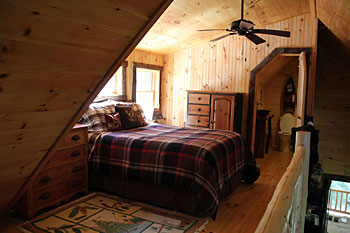 upstairs loft bedroom